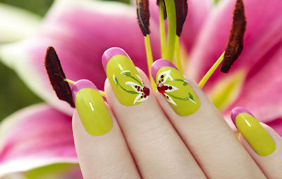 Lily nail design.