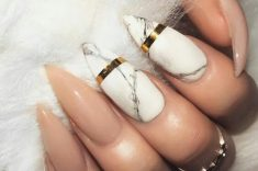 Marble with a Gold BBand.