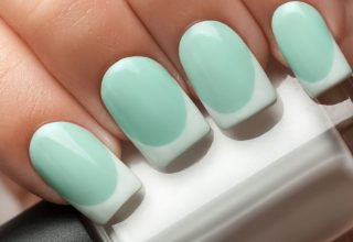 Mint with white tips.