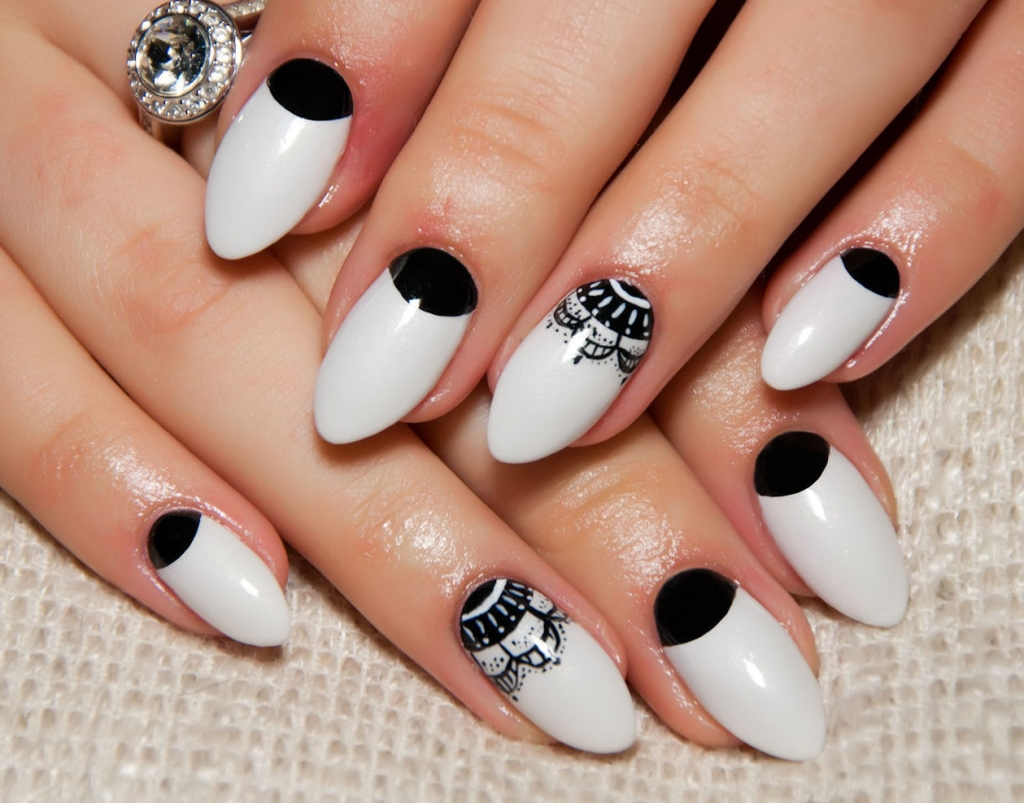 Exquisite Bridal Nails to Go With Your Special Outfit.