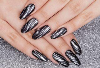 Silver stripes.