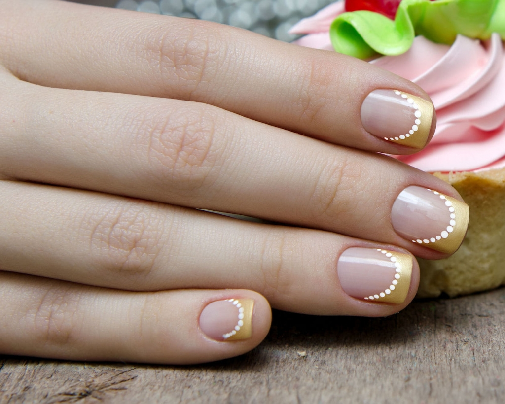 Subtlety and elegant nails designs for special occasions golden french manicure prinsesfo Image collections