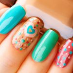 Hearts and dots.