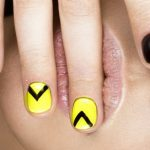 Yellow and black chevrons.