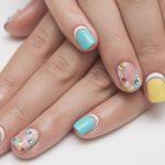 Eye-catching nail design.