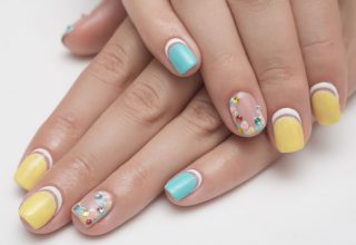 Eye-catching nail design.