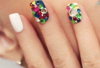 Colorful nail beads.
