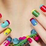 Ultra colorful nails.