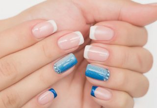 French tips with ombre touches.