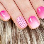 Pink Crosshatching.