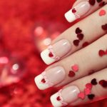 Ruby colored hearts.