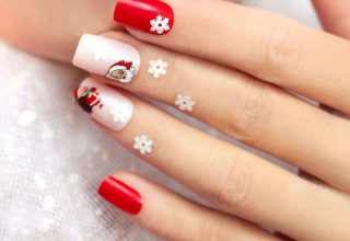 Santa nails.