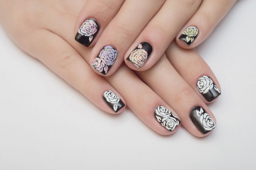Nice, Simple, Flower Nail Designs Make for the Ideal Girly Result.