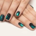 Turquoise with a black overlay.