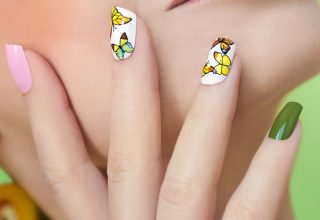 Little yellow butterflies.