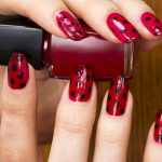 Like the pattern on a ladybugs wing case.