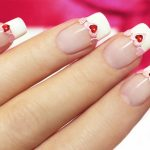 Heart shapes with a French Manicure.