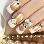 Golden nails.