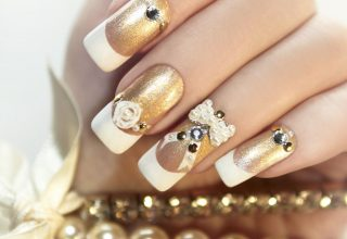 Golden nails.