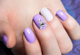 Lilac and jewels.