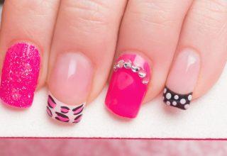 Glitter nail designs.