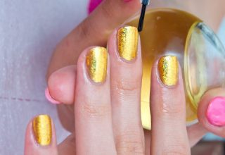 Plain Gold Nail polish..