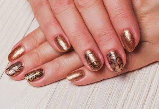 Golden swirls.